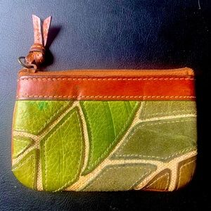 FOSSIL Leather Coin Purse Wallet